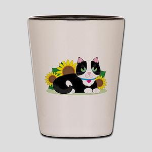Tuxedo Cat Shot Glass