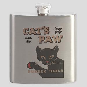 Vintage Cat's Paw Rubber Heels Flask