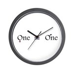 One is one (clear) Wall Clock