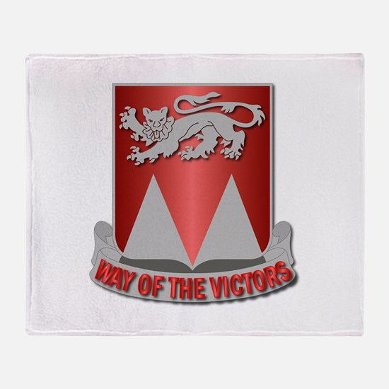26th Engineer Bn - Way of the Victor Throw Blanket