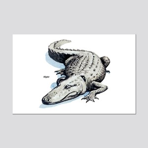Alligator Gator Mini Poster Print