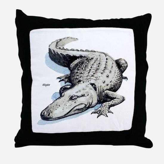 Alligator Gator Throw Pillow