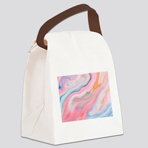 colorful marble pattern Canvas Lunch Bag