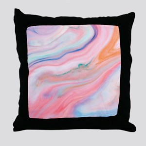 colorful marble pattern Throw Pillow