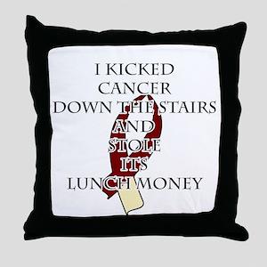 Cancer Bully (Burgundy & Cream) Throw Pillow
