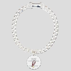 Cancer Bully (Burgundy & Cream) Bracelet