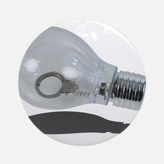 Cute Light bulb Round Ornament