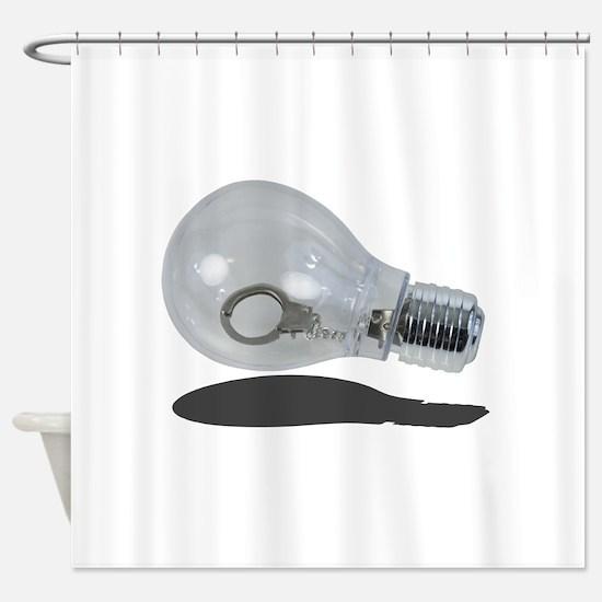 Unique Light bulbs Shower Curtain