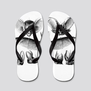 Bat Illustration Flip Flops
