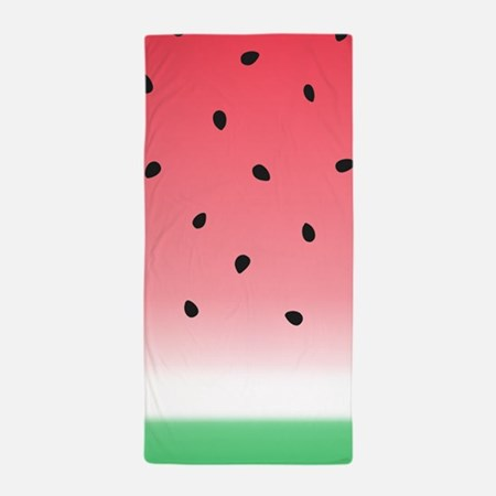 Watermelon Ombre Stripes Beach Towel