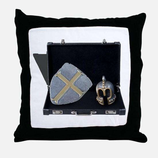 Cute Data shield Throw Pillow