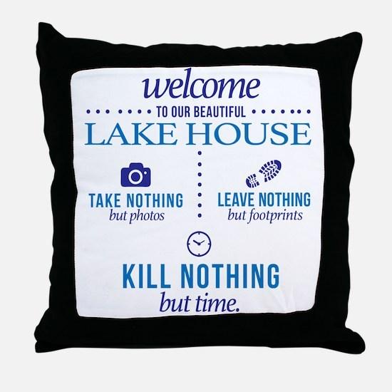 Cute Lake house Throw Pillow