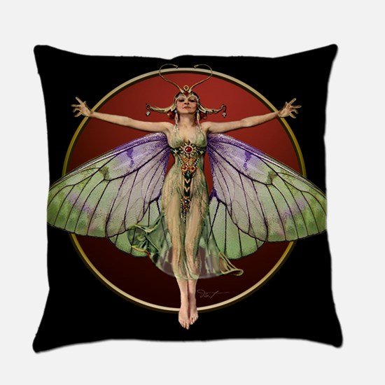 Flapper Fairy Everyday Pillow Blkred