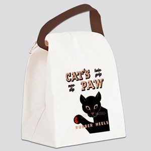 Vintage Cat's Paw Rubber Heels Canvas Lunch Bag