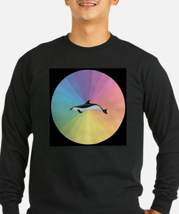 Pastel Dolphin Long Sleeve T-Shirt