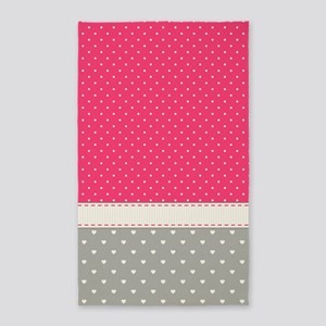 Dots and Hearts Area Rug