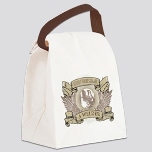 Never Underestimate a Welder Canvas Lunch Bag