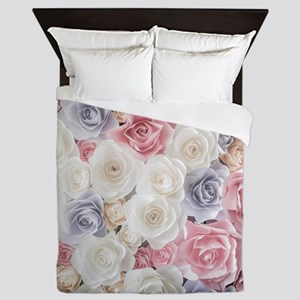 Roses, Roses, Roses Queen Duvet