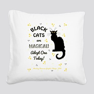 BLACK CATS ARE... Square Canvas Pillow