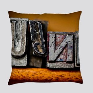 Lead Letters Everyday Pillow