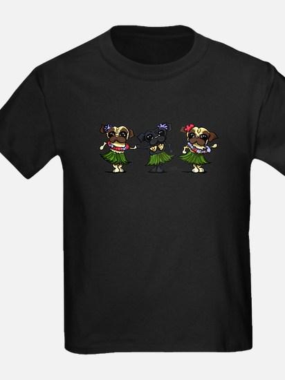 Hula Dancer Pugs T-Shirt