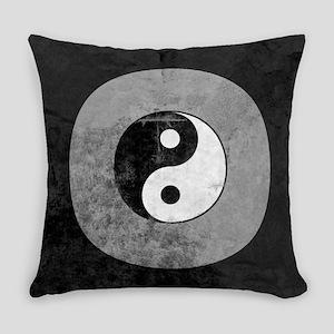 Distressed Yin Yang Symbol Everyday Pillow