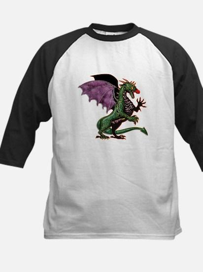 Purple & Green Dragon Baseball Jersey