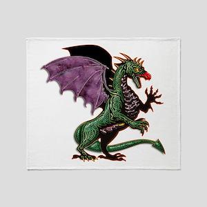 Purple & Green Dragon Throw Blanket