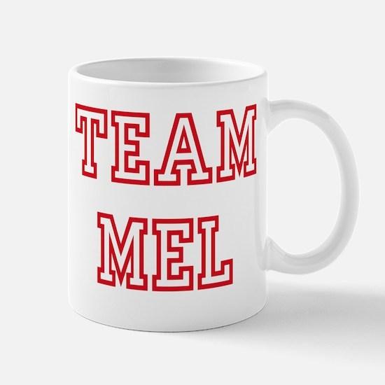 Team MEL Women and apos;s Pink T-Shirt Mug