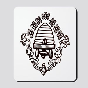 """Beehive & Bees"" Mousepad"