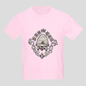 """Beehive & Bees"" Kids Light T-Shirt"