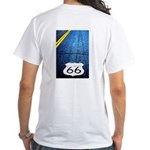 Blue 66 Shield White T-Shirt