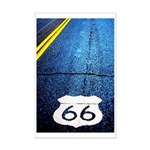 Blue 66 Shield Mini Poster Print