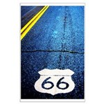 Blue 66 Shield Large Poster