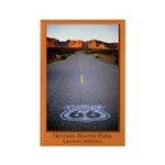 Route 66 Shield Rectangle Magnet (100 pack)