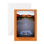 Route 66 Shield Greeting Cards (Pk of 10)