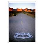 Route 66 Shield Large Poster