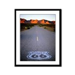 Route 66 Shield Framed Panel Print