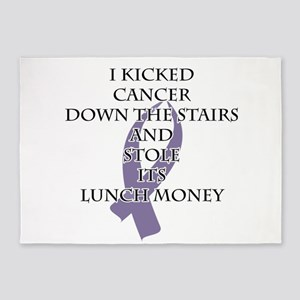 Cancer Bully (Light Purple Ribbon) 5'x7'Area Rug