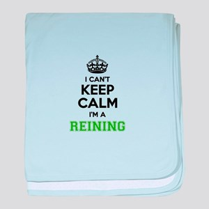 REINING I cant keeep calm baby blanket