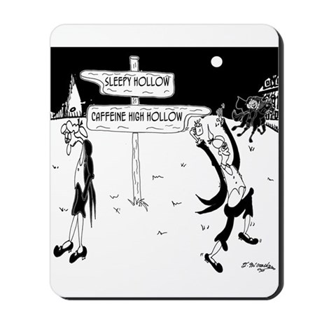 Caffeine Cartoon 7926 Mousepad by mchumorhistorytoons