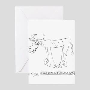 Cow Cartoon 9313 Greeting Card