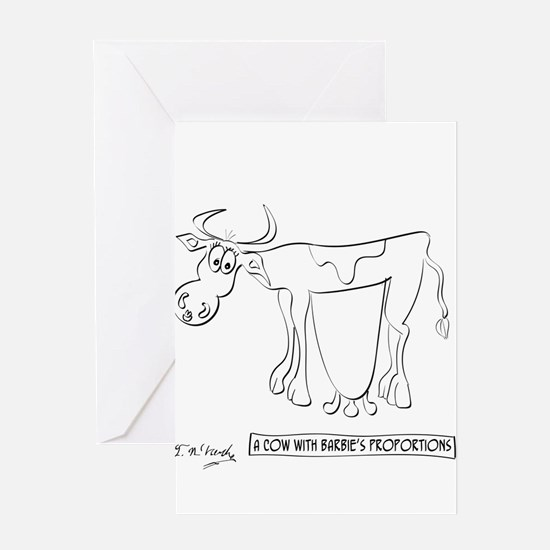 Cow Cartoon 9313 Greeting Card