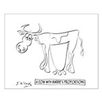 Cow Cartoon 9313 Small Poster