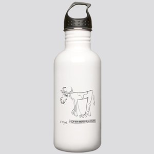 Cow Cartoon 9313 Stainless Water Bottle 1.0L