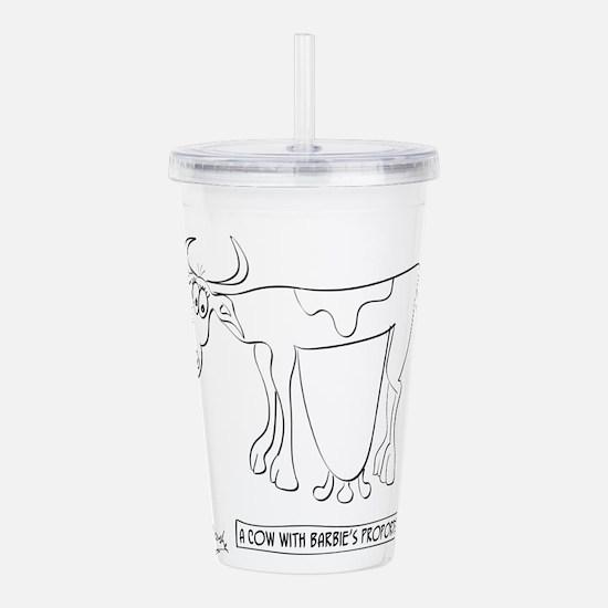 Cow Cartoon 9313 Acrylic Double-wall Tumbler