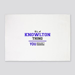 It's KNOWLTON thing, you wouldn't u 5'x7'Area Rug