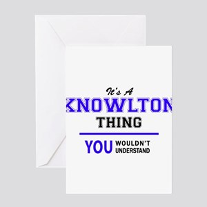 It's KNOWLTON thing, you wouldn't u Greeting Cards