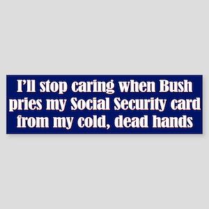 Cold Dead Hands Bumper Sticker