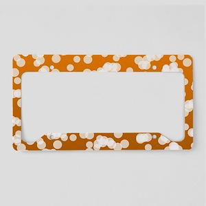 Blurry Lights: Deep Orange License Plate Holder